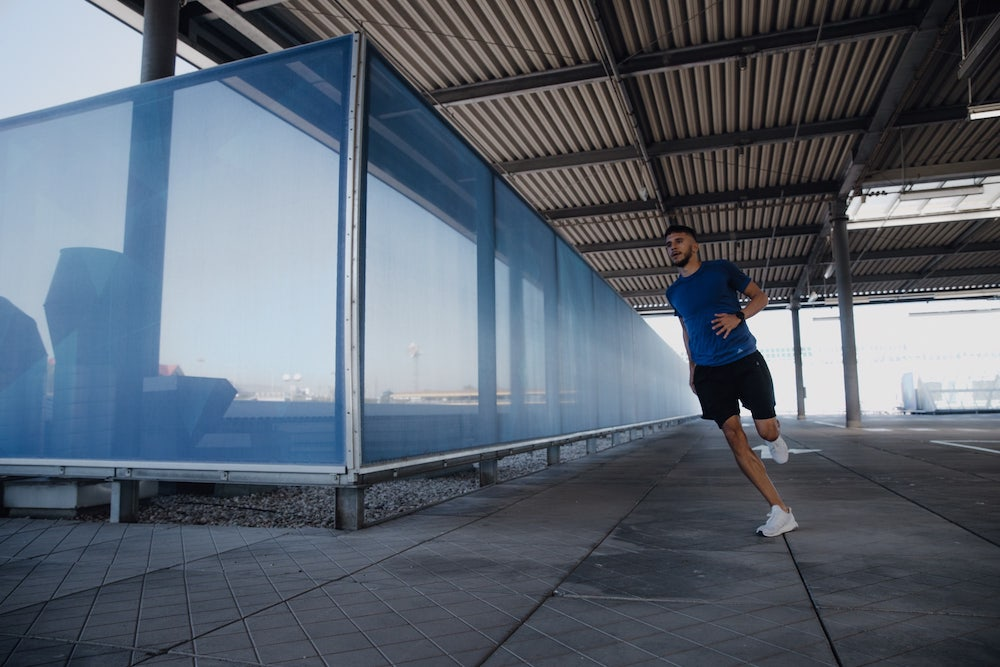 man running outdoors