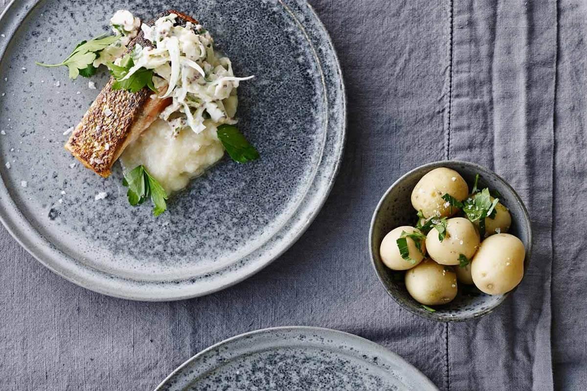 Recette : saumon croustillant aux légumes