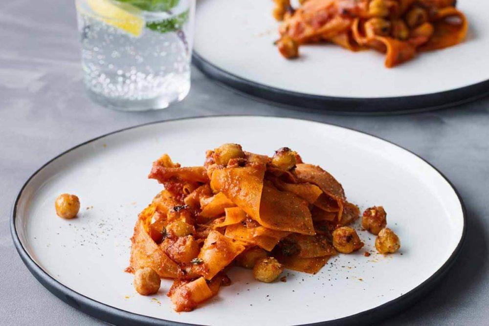 Recette : tagliatelles de carottes à la sauce arrabiata (vegan)
