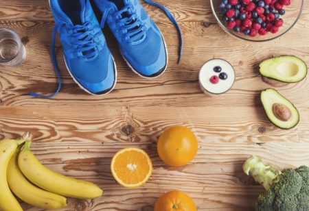 Bananas, avocados and other healthy food for runners