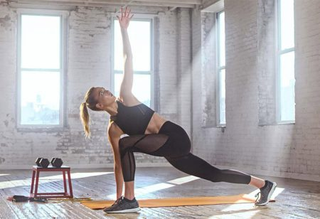 Woman doing a yoga pose for weight loss
