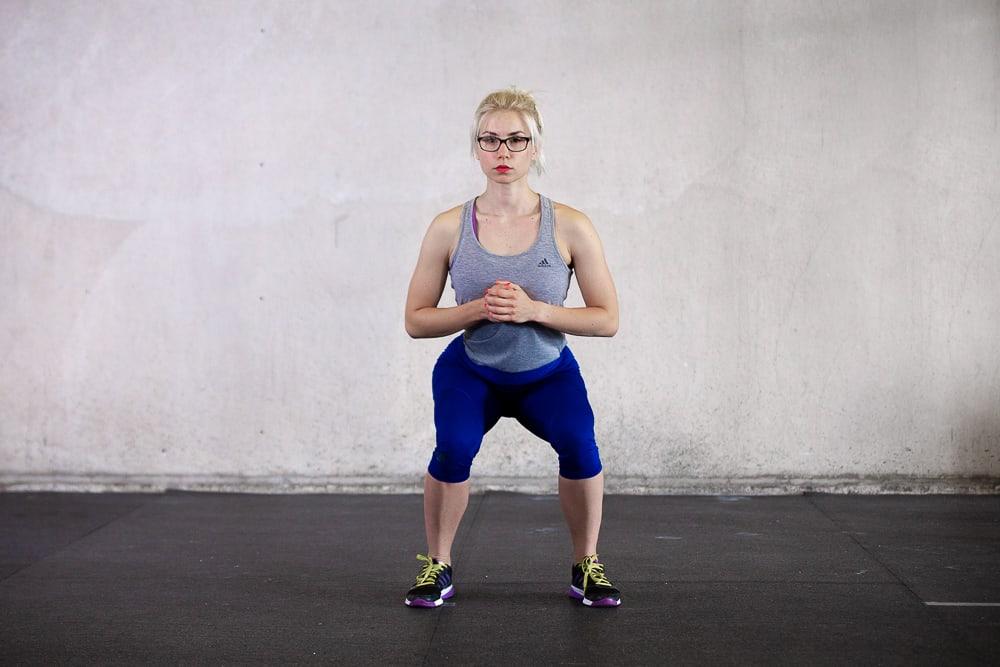 Squats - nach innen gedrehte Knie