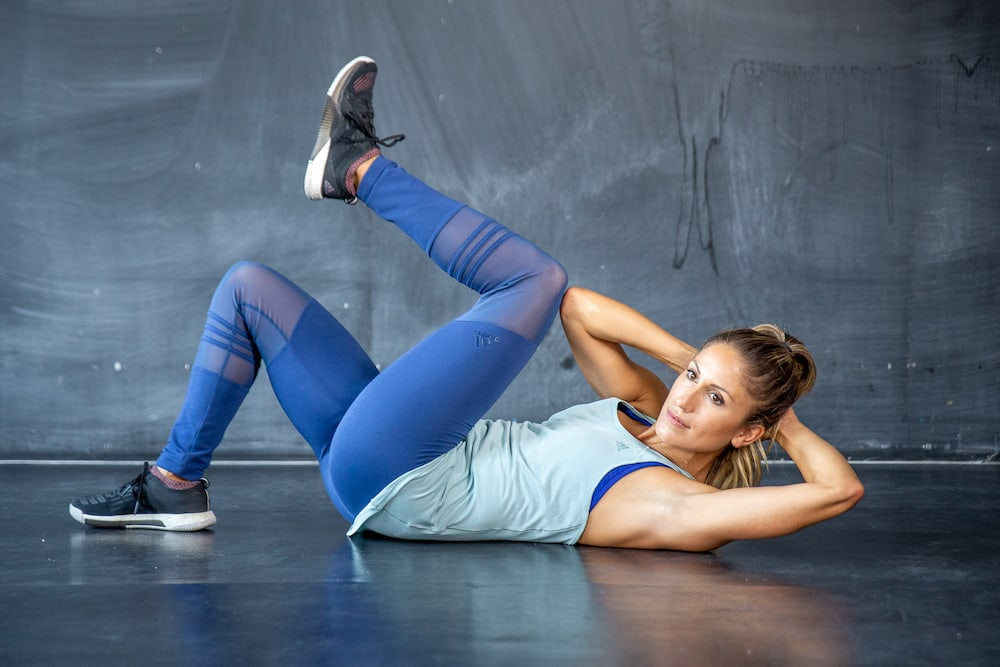 modified bicycle crunches