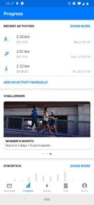 Women's challenge Runtastic