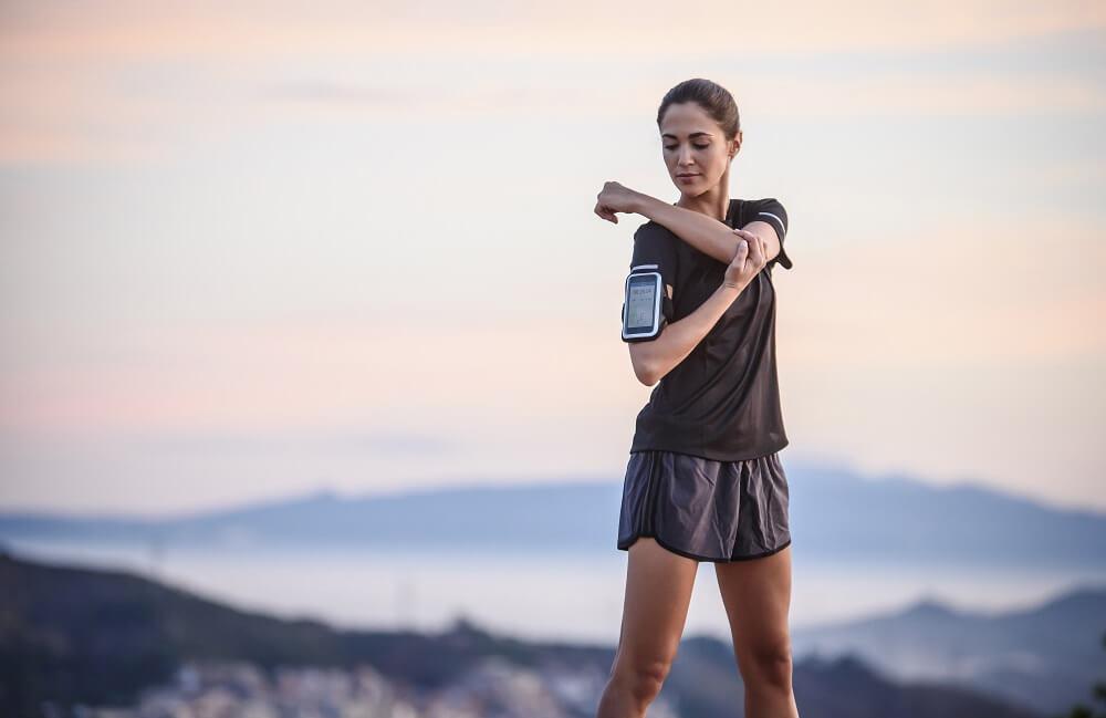 A woman after a run