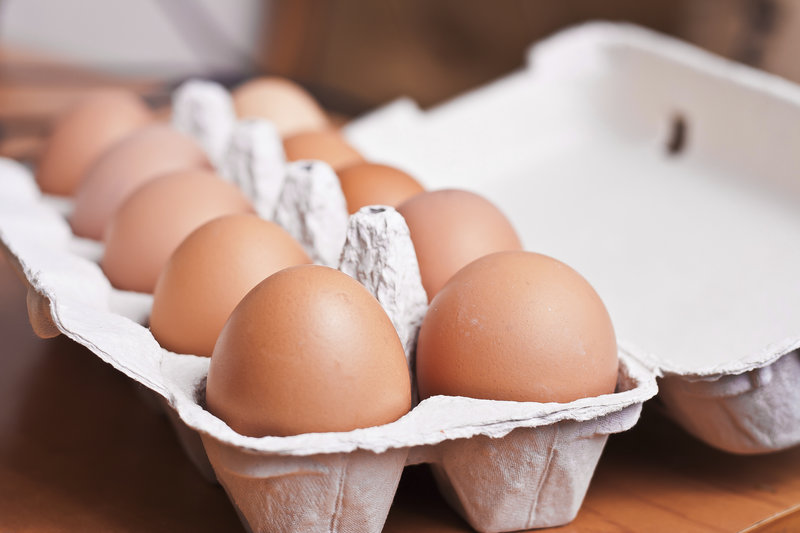 Carton with eggs.