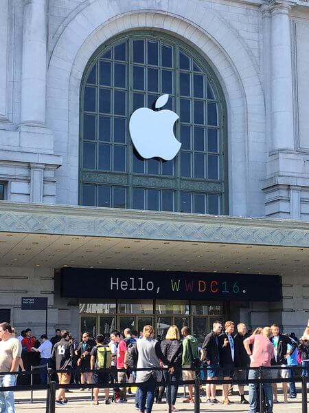 Entry of the WWDC 2016.