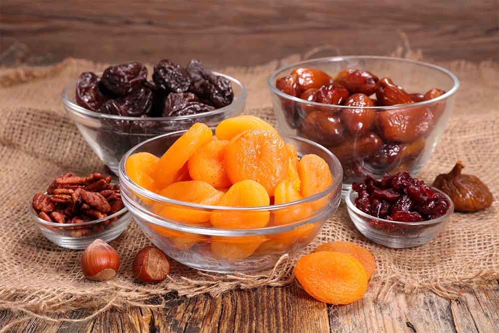 Dried fruits like dates and dried figs are a delicious way to improve your mood.