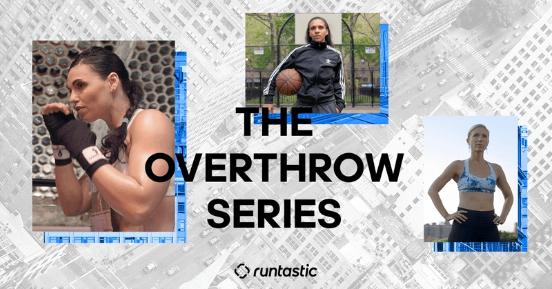 Runtastic Results Overthrow Serie mit drei Sportlerinnen.
