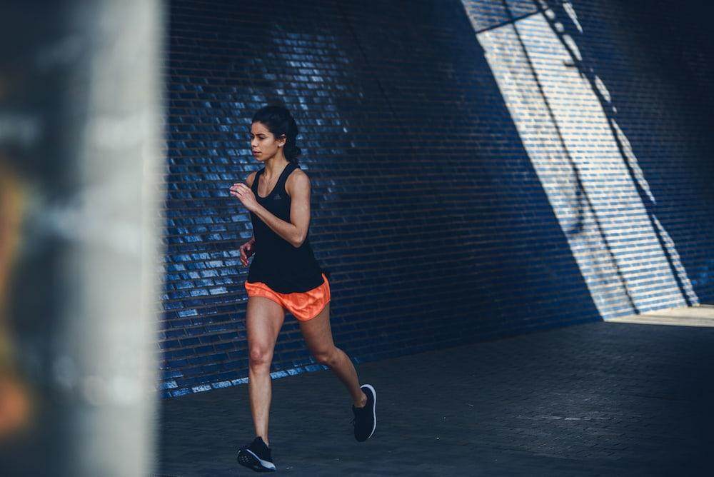 Woman training endurance