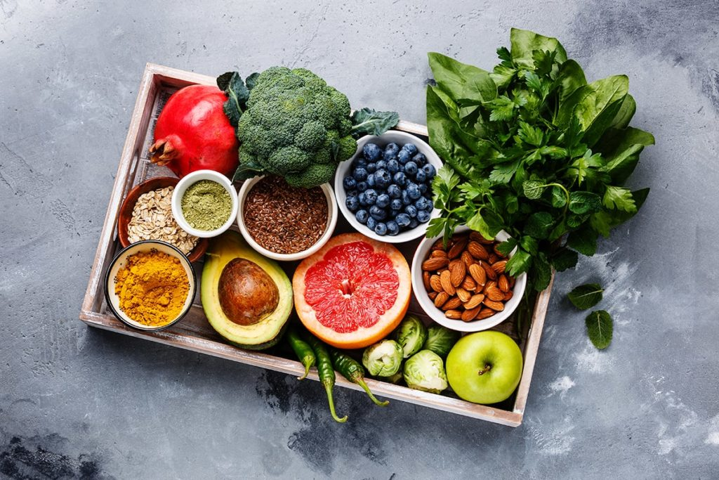 Box of colorful food