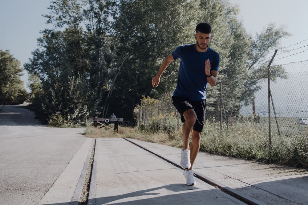 guy running outdoors