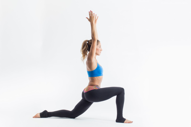 Woman doing a Low Lunge