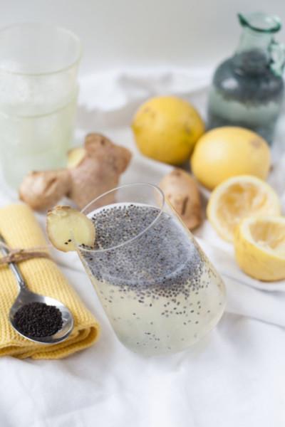 Ingwer-Zitronendrink