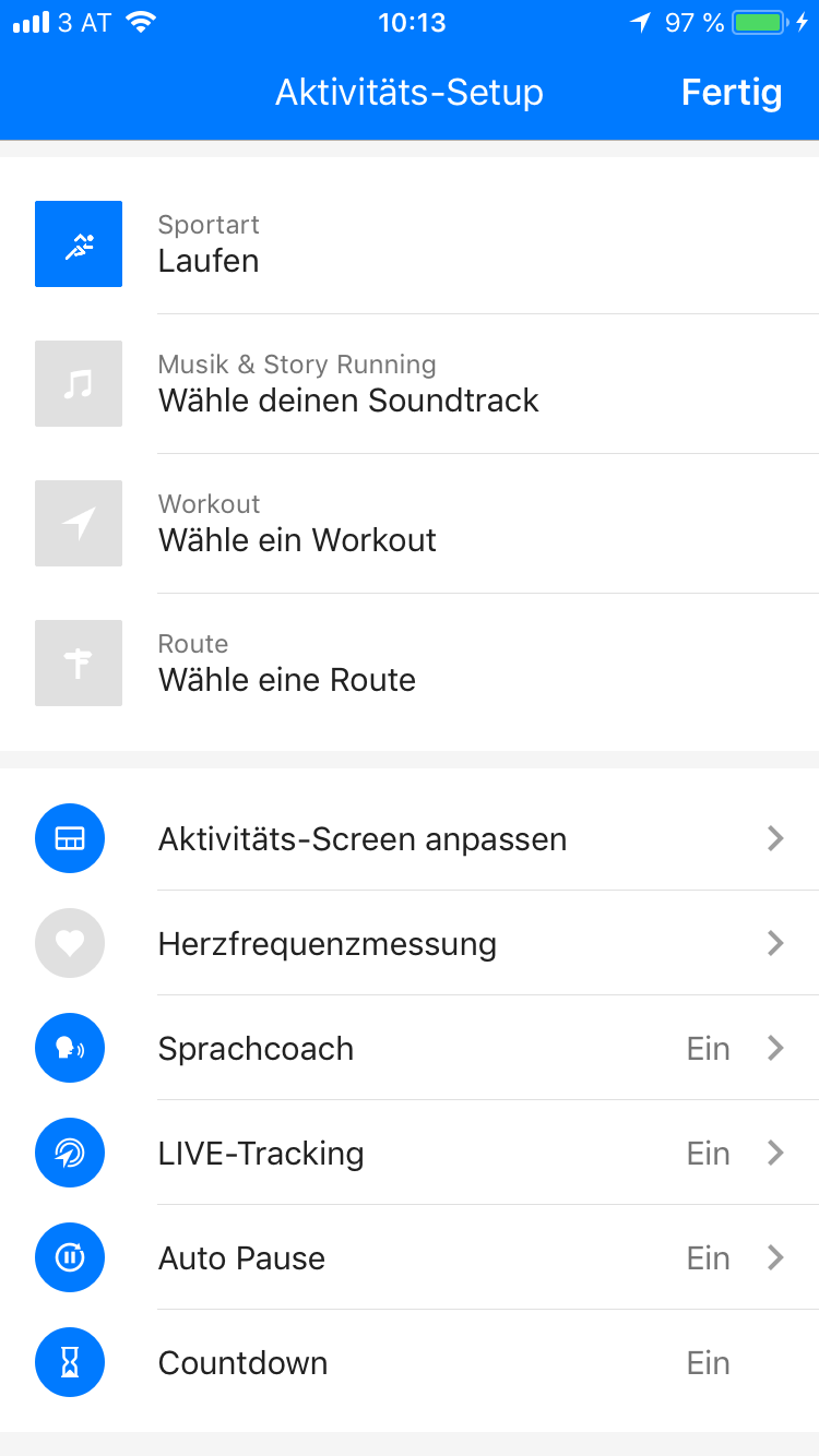 Screenshot Runtastic Live Tracking iOS