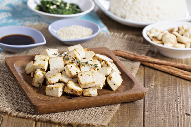 Tofu con esepcias