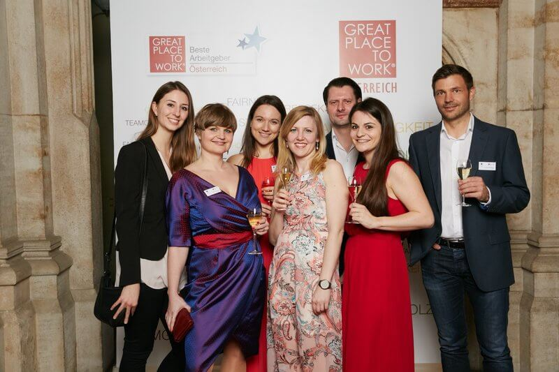 Group of Runtastics at the Great Place To Work award.