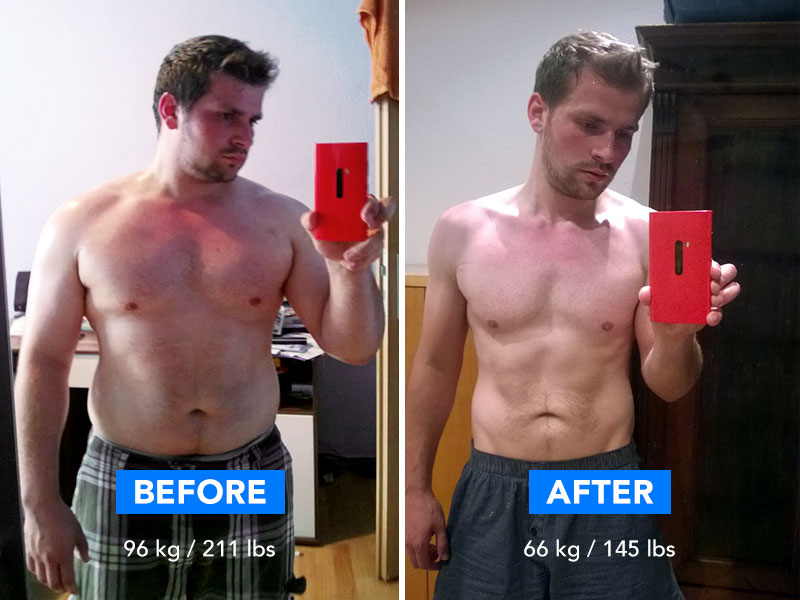 Runtastic Success Story before and after image of Tommy.