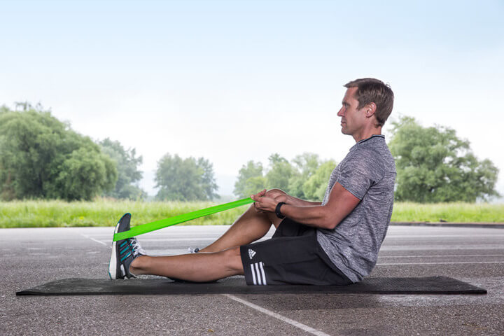 Sarting position for foot and lower leg strengthening