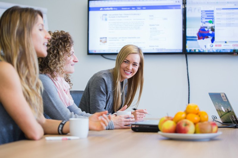 Shot of a meeting in the Runtastic office