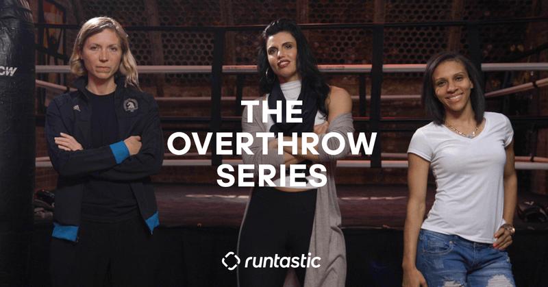 Drei Frauen der Runtastic Overthrow series