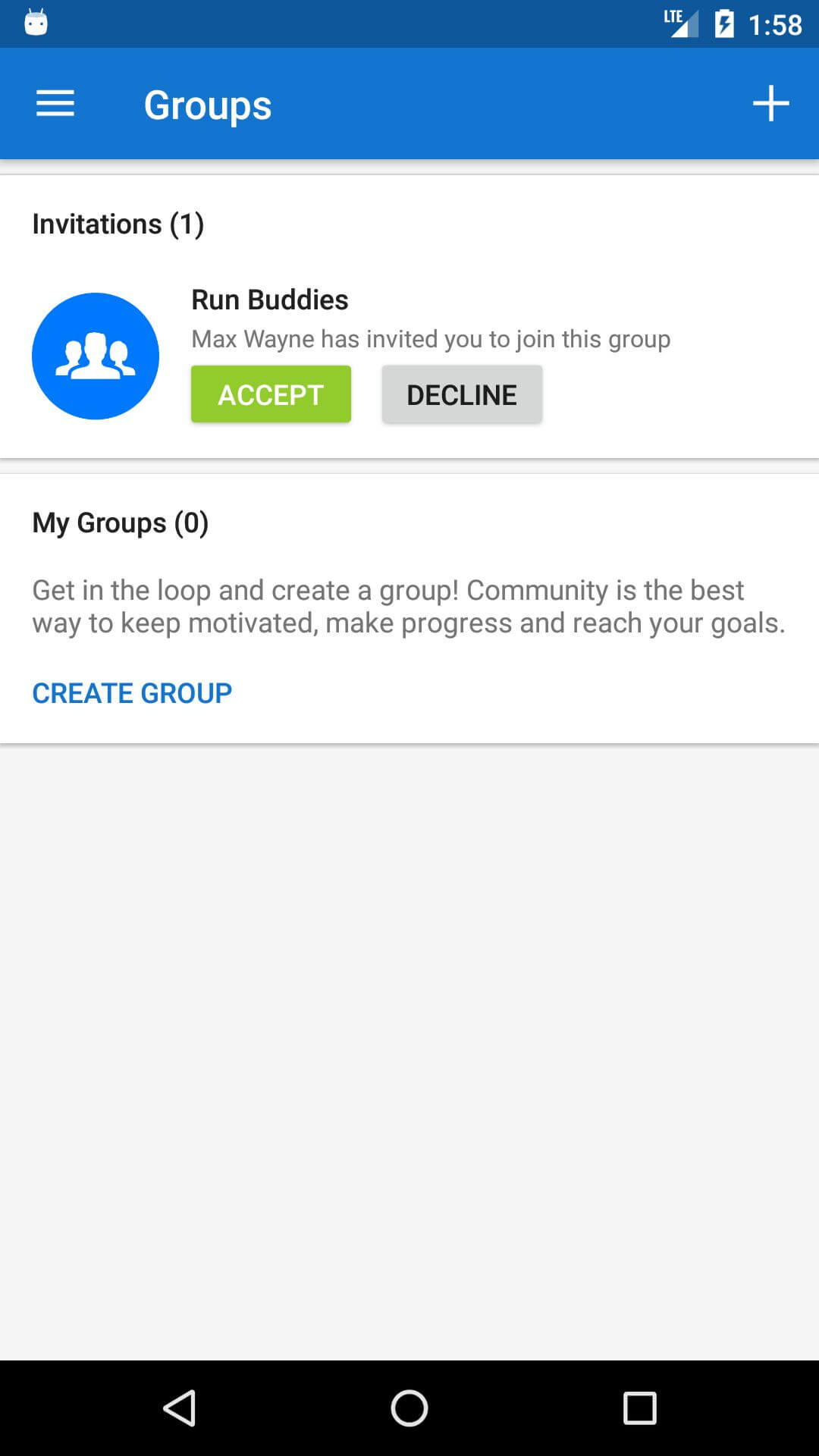 Runtastic Groups
