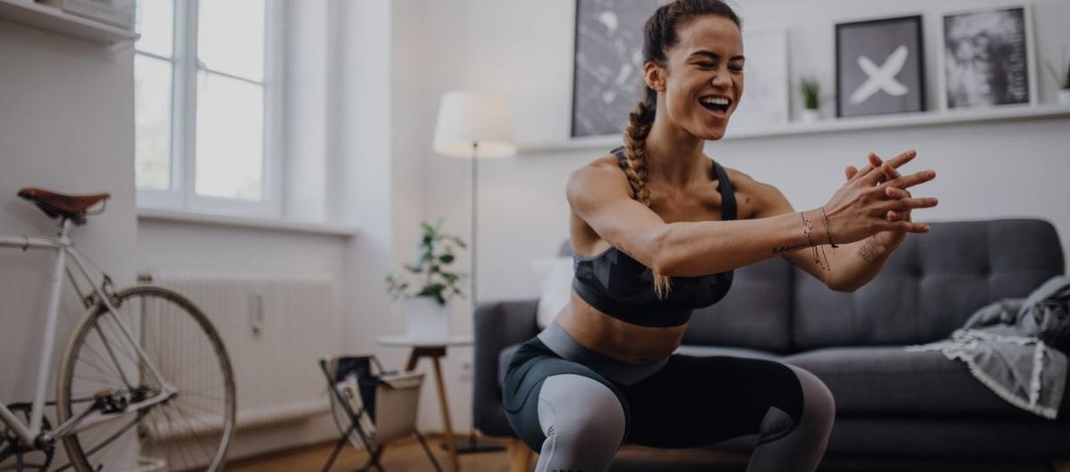 Woman doing squat jumps