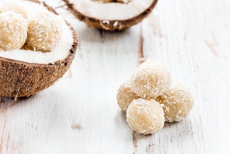 Dulces sin azúcar: bolitas de coco