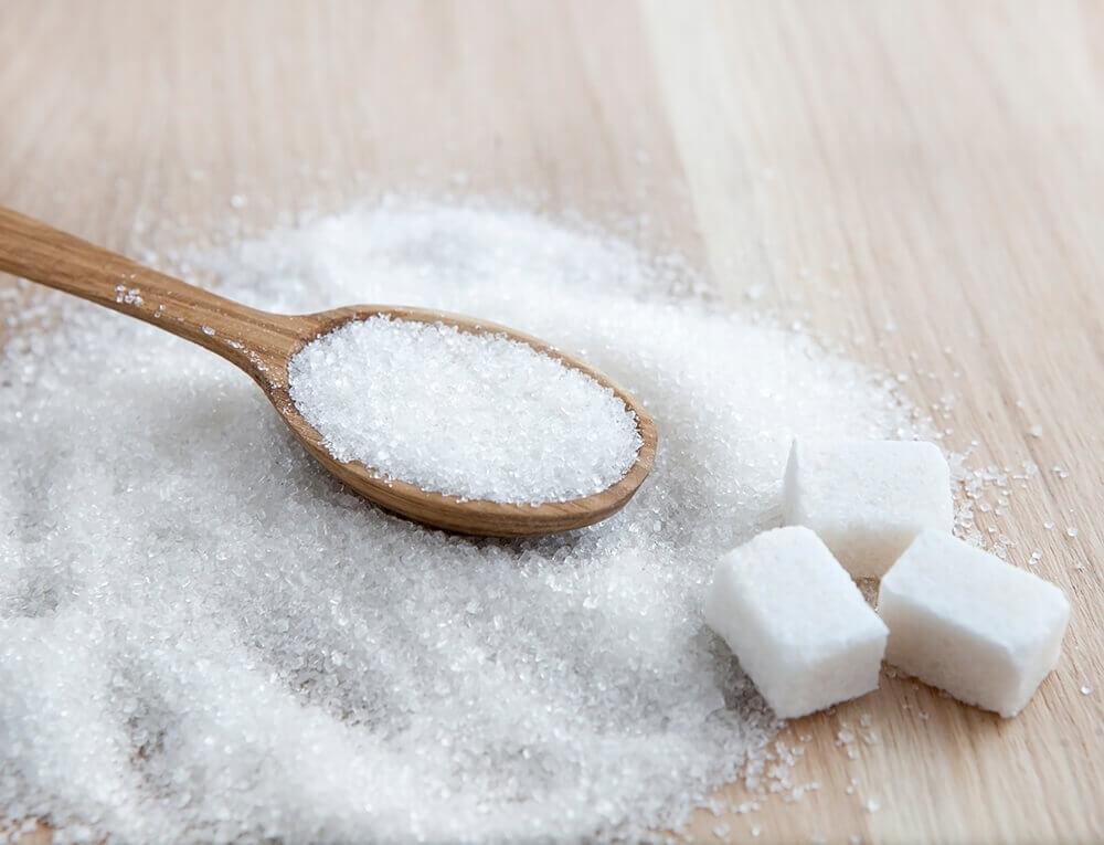 Eritritol, parecido com açúcar cristal