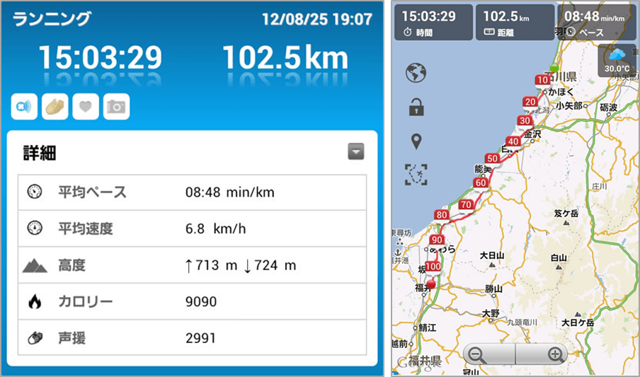 100 km run
