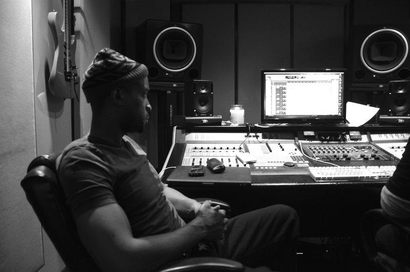 Masta Ace in the studio.