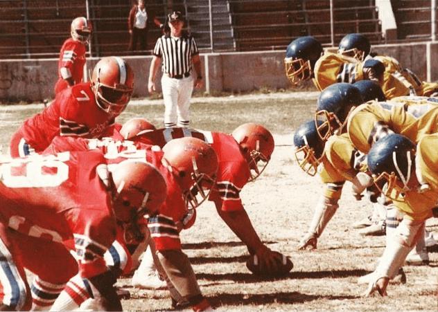 Masta Ace playing american football
