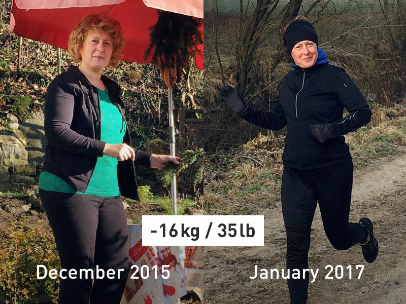 Before and After picture success story Ksenija.