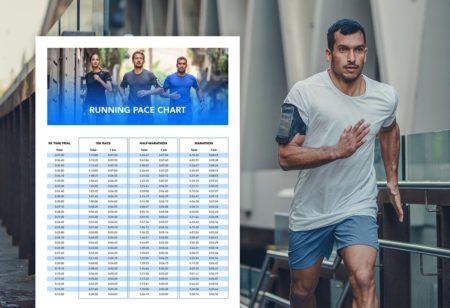 Pace chart for runners