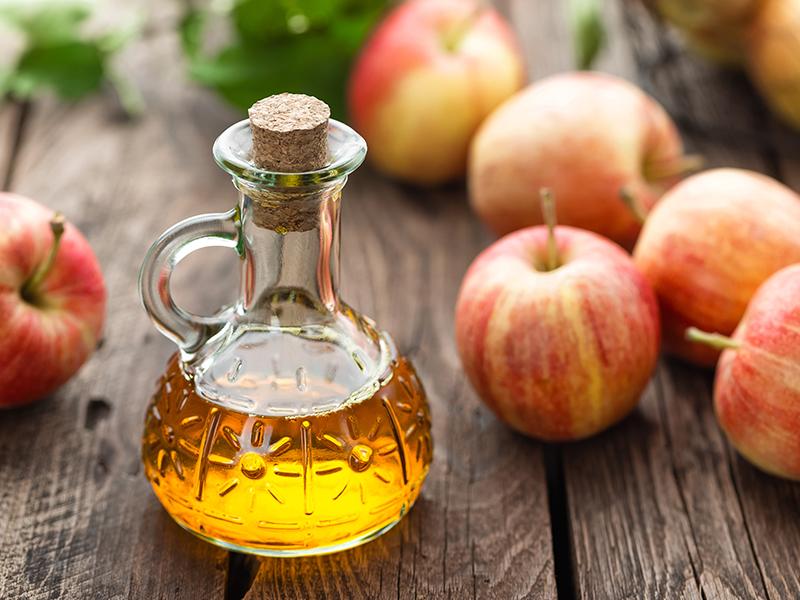 A bottle of apple cider vinegar