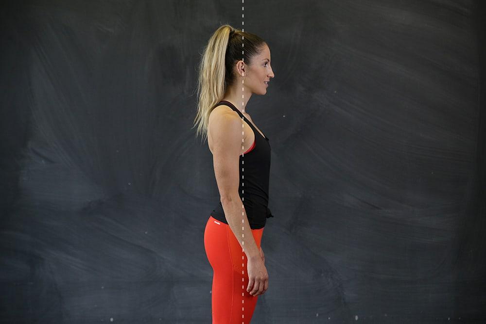 Gute Körperhaltung im Stand