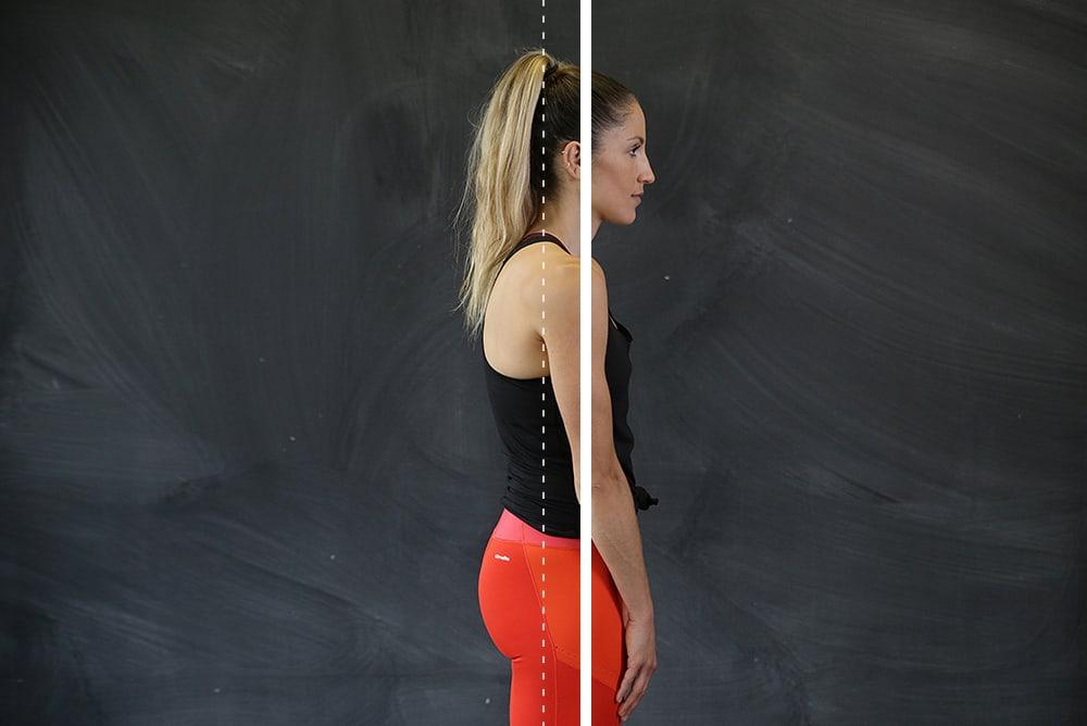 Krumme Schultern (abgerundete Schultern vor den Ohren)