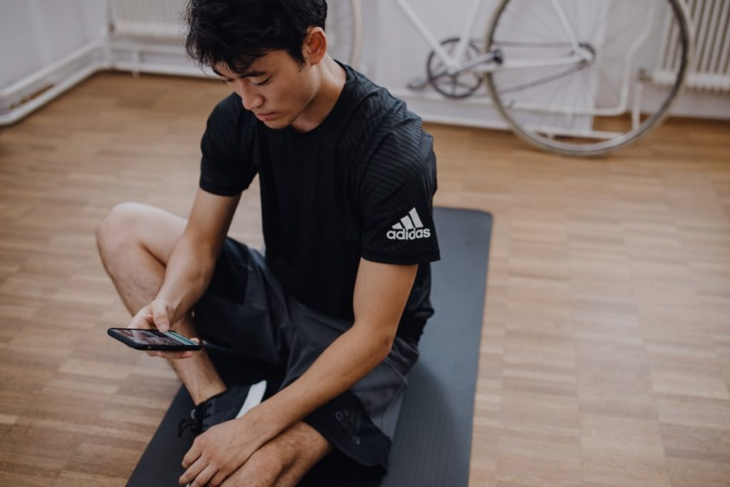 man working out on floor