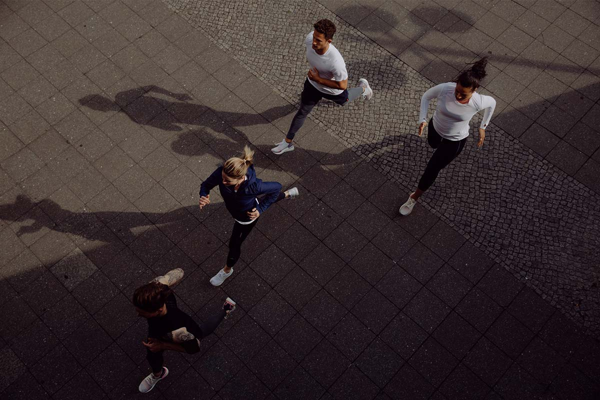 Four people during a run