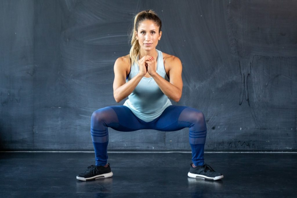 Image result for girl bodyweight squats