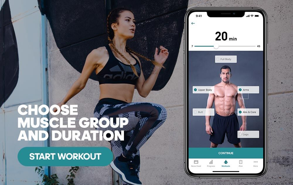 workout creator in the adidas training app