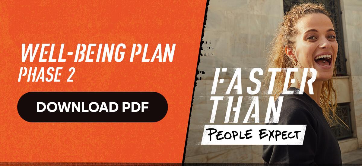 adidas Runtastic Running Training Plan: Well-Being Plan