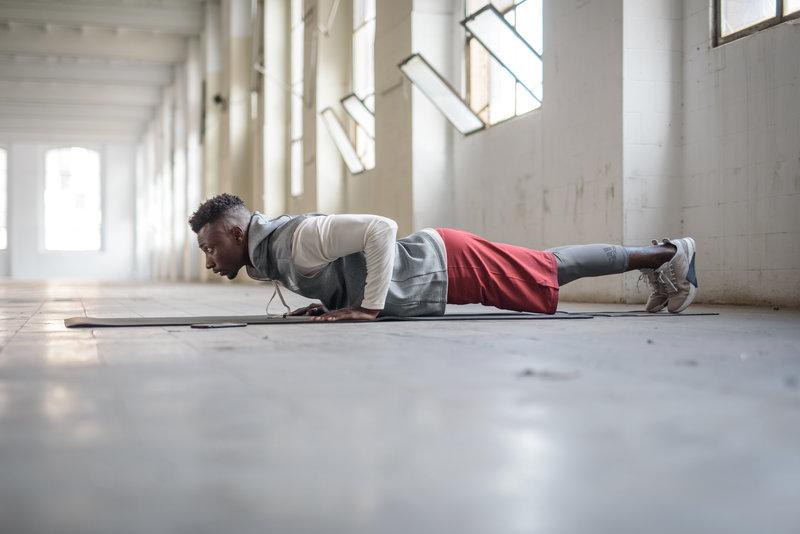 A man doing push-ups
