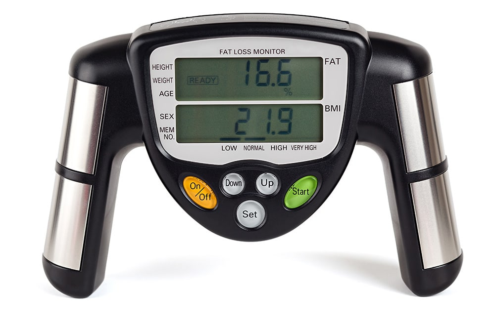 Bioelectrical impedance machine for testing body fat