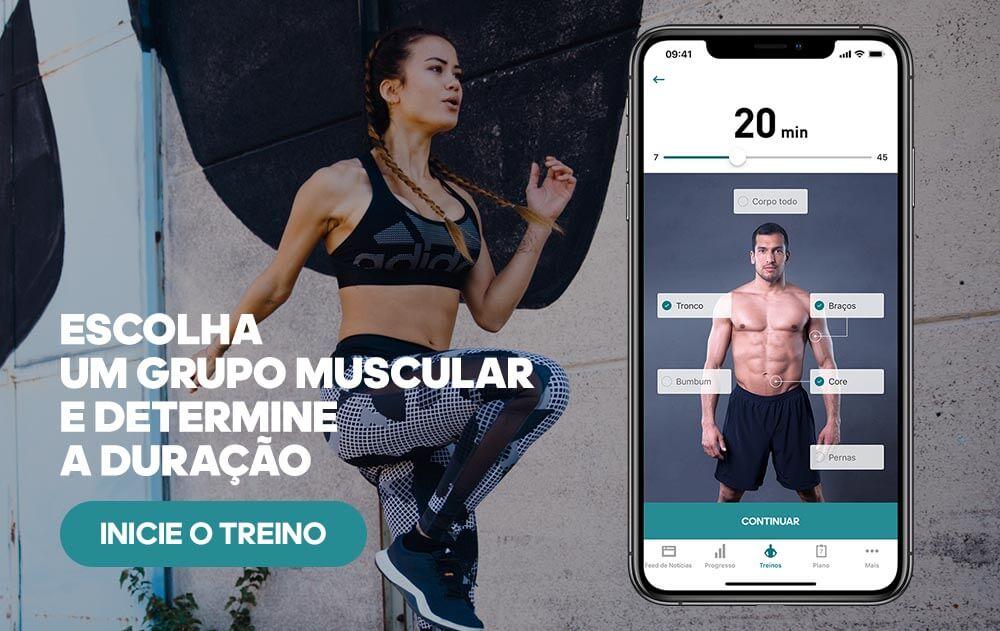 Banner para trenos no app adidas Training
