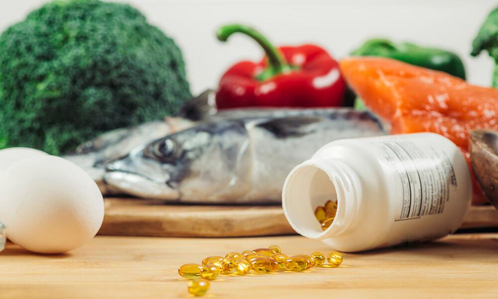 Vitamin D-reiche Lebensmittel und Supplemente