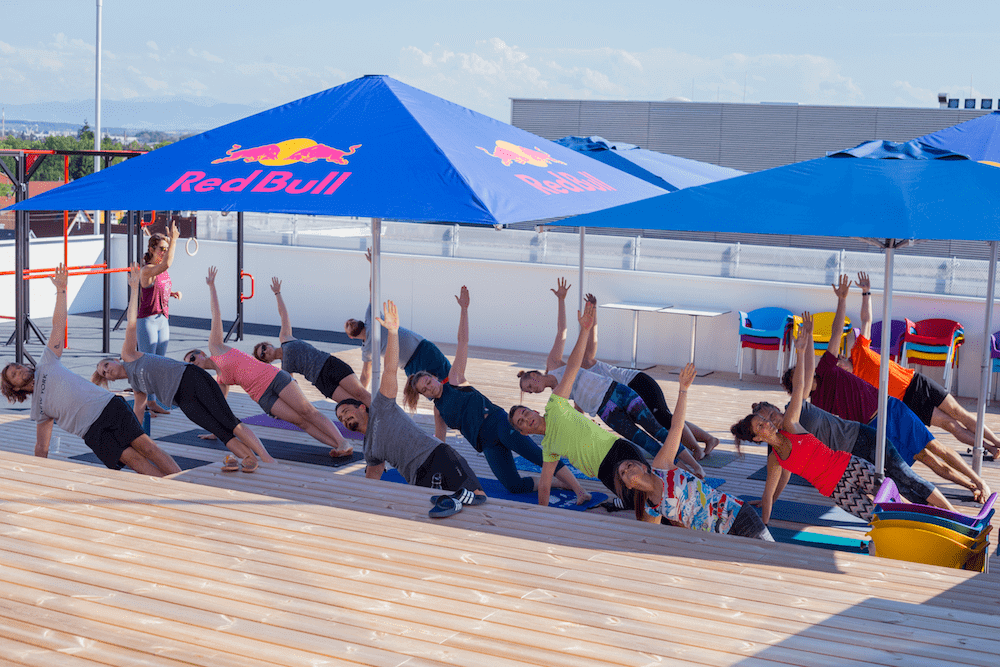 Working for Runtastic can also mean doing Yoga as a team