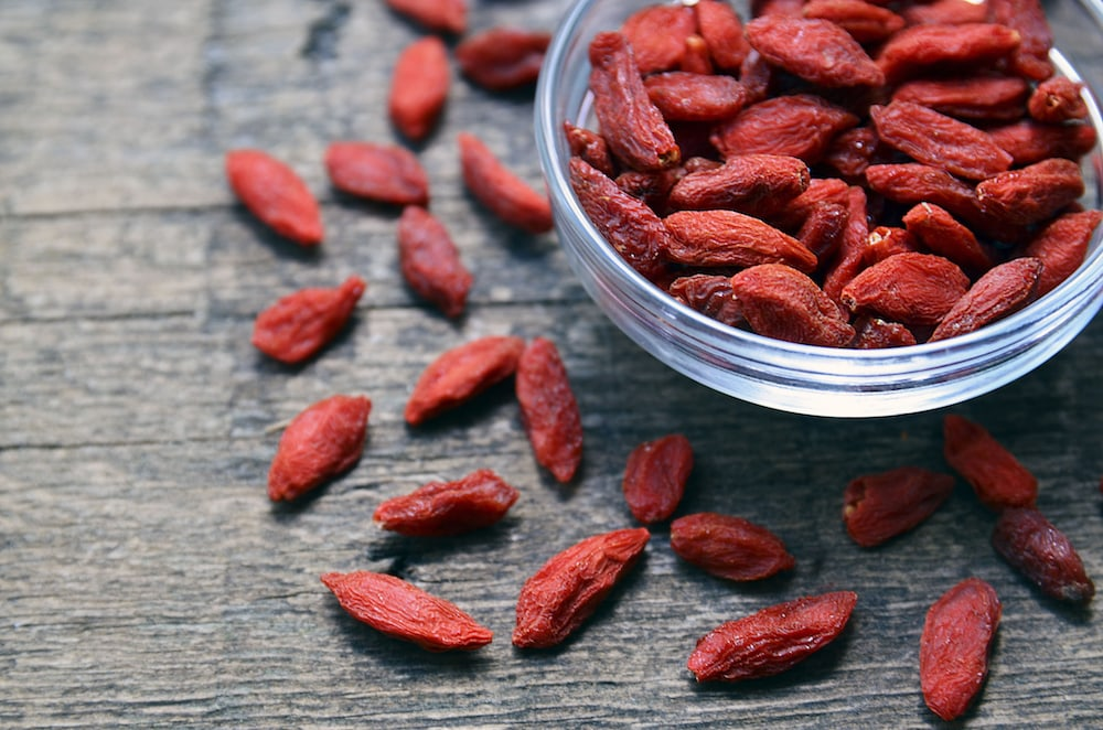 Goji berries are high in vitamins and amazing immune system boosters