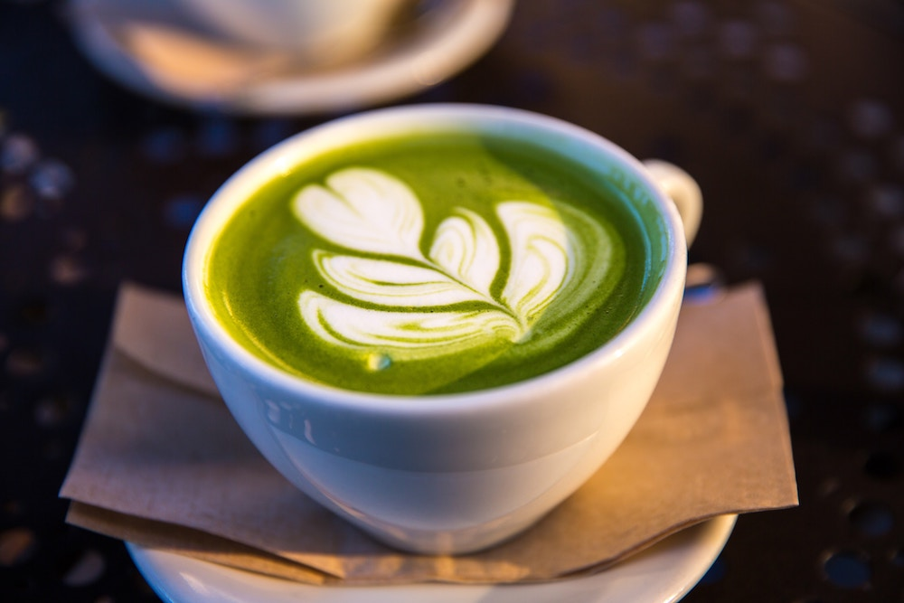 Matcha is ground green tea and popular as more than just a coffee substitute.