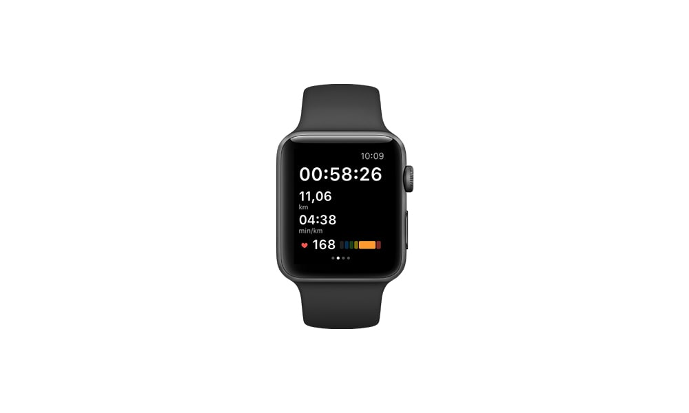Apple watch can be connected with the adidas Running app and the adidas Training app